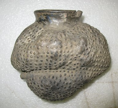 Chimú. <em>Jar in the Form of a  Guanabana or Soursop Fruit</em>, ca.1100-1400. Ceramic, 6 x 7 x 4 1/4 in. (15.2 x 17.8 x 10.8 cm). Brooklyn Museum, Museum Expedition 1941, Frank L. Babbott Fund, 41.1275.84. Creative Commons-BY (Photo: Brooklyn Museum, CUR.41.1275.84.jpg)