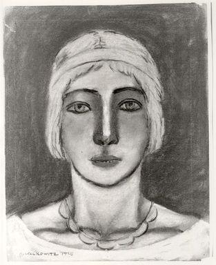 Abraham Walkowitz (American, born Russia, 1878-1965). <em>Woman's Head #12</em>, 1928. Pastel on tan paper, 14 3/16 x 11 3/16 in. (36 x 28.4 cm). Brooklyn Museum, Gift of the artist, 41.170 (Photo: Brooklyn Museum, CUR.41.170.jpg)