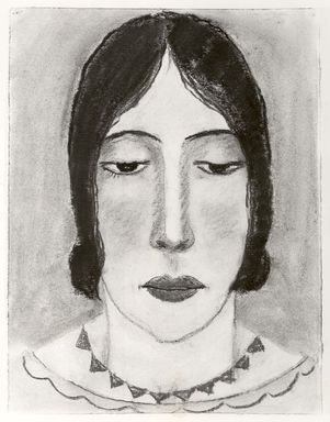 Abraham Walkowitz (American, born Russia, 1878-1965). <em>Woman's Head #17</em>, ca. 1927-1928. Pastel on paper, 12 1/2 x 9 1/2 in. (31.8 x 24.1 cm). Brooklyn Museum, Gift of the artist, 41.175 (Photo: Brooklyn Museum, CUR.41.175.jpg)