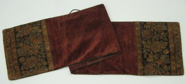 <em>Table Runner</em>, 1880's. Velour, 91 x 18 in. (231.1 x 45.7 cm). Brooklyn Museum, Gift of the Pierrepont Family, 41.397. Creative Commons-BY (Photo: Brooklyn Museum, CUR.41.397.jpg)