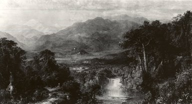 William Forrest (American, born Edinburgh, (1805-1899)). <em>Mountainous Landscape</em>, 1862. Steel engraving, 21 7/8 x 31 in. (55.6 x 78.8 cm). Brooklyn Museum, Gift of the Pierrepont family, 41.62 (Photo: Brooklyn Museum, CUR.41.62.jpg)