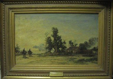 Johan Barthold Jongkind (Dutch, 1819-1891). <em>The Tile Works at Honfleur (Le Tuilerie à Honfleur)</em>, 1865. Oil on canvas, 15 3/4 x 25 9/16 in. (40 x 64.9 cm). Brooklyn Museum, Bequest of Mrs. William A. Putnam, 41.779 (Photo: Brooklyn Museum, CUR.41.779.jpg)