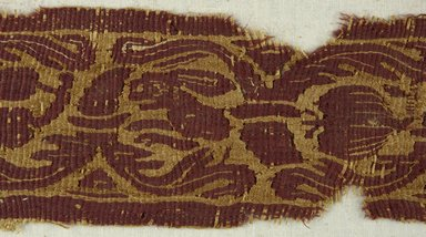 Coptic. <em>Band Fragment with Animal and Botanical Decoration</em>, 4th-5th century C.E. Flax, wool, 17 1/4 x 3 1/4 in. (43.8 x 8.3 cm). Brooklyn Museum, Gift of Pratt Institute, 41.797. Creative Commons-BY (Photo: Brooklyn Museum (in collaboration with Index of Christian Art, Princeton University), CUR.41.797_detail01_ICA.jpg)