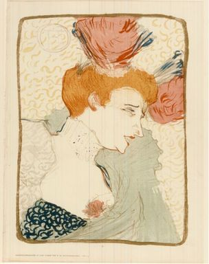Henri de Toulouse-Lautrec (French, 1864-1901). <em>Marcelle Lender</em>. Lithograph on wove paper, 12 15/16 x 9 9/16 in. (32.8 x 24.3 cm). Brooklyn Museum, 41.877 (Photo: Brooklyn Museum, CUR.41.877.jpg)