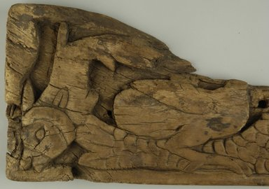 Coptic. <em>Water Scene</em>, 5th century C.E. Wood, 6 3/4 x 1 1/16 x 14 1/16 in. (17.1 x 2.7 x 35.7 cm). Brooklyn Museum, Gift of Nasli Heeramaneck, 41.978. Creative Commons-BY (Photo: Brooklyn Museum (in collaboration with Index of Christian Art, Princeton University), CUR.41.978_detail01_ICA.jpg)