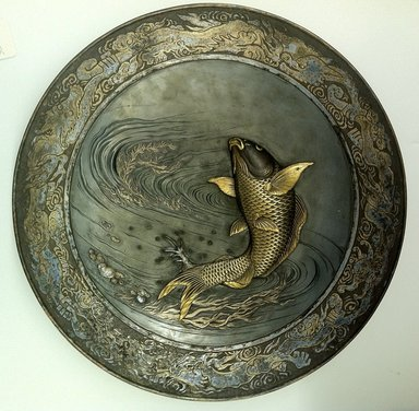 Japanese. <em>Large Circular Plate</em>, 19th century. Bronze, 2 1/8 x 17 3/4 in. (5.4 x 45.1 cm). Brooklyn Museum, Gift of Mrs. William E. S. Griswold in memory of her father, John Sloane, 41.980.25. Creative Commons-BY (Photo: Brooklyn Museum, CUR.41.980.25.jpg)