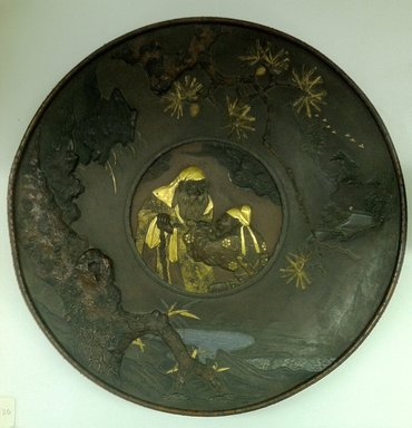 Japanese. <em>Large Circular Plate</em>, 19th century. Bronze, 1 3/4 x 18 1/4 in. (4.4 x 46.4 cm). Brooklyn Museum, Gift of Mrs. William E. S. Griswold in memory of her father, John Sloane, 41.980.26. Creative Commons-BY (Photo: Brooklyn Museum, CUR.41.980.26.jpg)