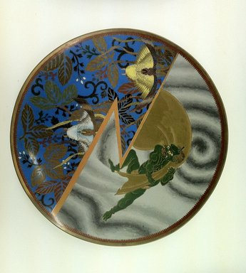 Japanese. <em>Plate</em>, 19th century. Metal with cloisonne decoration, 1 1/4 x 12 in. (3.2 x 30.5 cm). Brooklyn Museum, Gift of Mrs. William E. S. Griswold in memory of her father, John Sloane, 41.980.47. Creative Commons-BY (Photo: Brooklyn Museum, CUR.41.980.47.jpg)