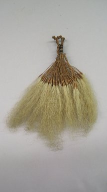 Marquesan. <em>Old Man's Beard Ornament (Pavahina)</em>, before 1938. Hair, sennit, 4 5/16 x 6 7/8 in. (11 x 17.5 cm). Brooklyn Museum, A. Augustus Healy Fund, 42.211.107. Creative Commons-BY (Photo: Brooklyn Museum, CUR.42.211.107.jpg)