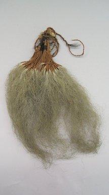 Marquesan. <em>Old Man's Beard Ornament (Pavahina)</em>, before 1938. Hair, sennit, 4 3/4 x 9 1/4 in. (12 x 23.5 cm). Brooklyn Museum, A. Augustus Healy Fund, 42.211.108. Creative Commons-BY (Photo: Brooklyn Museum, CUR.42.211.108.jpg)