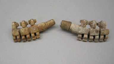 Marquesan. <em>Pair of Ear Ornaments (Pu Taiata)</em>, before 1938. Bone, a: 1 9/16 × 13/16 × 3/16 in. (4 × 2.1 × 0.5 cm). Brooklyn Museum, A. Augustus Healy Fund, 42.211.115a-b. Creative Commons-BY (Photo: Brooklyn Museum, CUR.42.211.115a-b.jpg)
