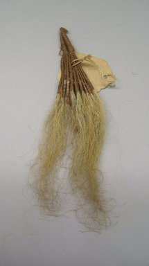 Marquesan. <em>Old Man's Beard Ornament (Pavahina)</em>, before 1938. Hair, sennit, 6 11/16 x 1 9/16 in (17 x 4 cm). Brooklyn Museum, A. Augustus Healy Fund, 42.211.2. Creative Commons-BY (Photo: Brooklyn Museum, CUR.42.211.2.jpg)