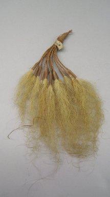 Marquesan. <em>Old Man's Beard Ornament (Pavahina)</em>, before 1938. Hair, sennit, 6 1/2 x 3 3/8 in. (16.5 x 8.5 cm). Brooklyn Museum, A. Augustus Healy Fund, 42.211.3. Creative Commons-BY (Photo: Brooklyn Museum, CUR.42.211.3.jpg)
