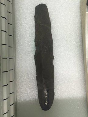 Marquesan. <em>Adze</em>, before 1938. Stone, 9 13/16 x 1 15/16 x 1 15/16 in. (25 x 5 x 5 cm). Brooklyn Museum, A. Augustus Healy Fund, 42.211.80. Creative Commons-BY (Photo: Brooklyn Museum, CUR.42.211.80.jpg)