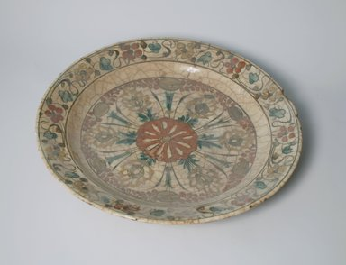 <em>Plate</em>, 17th century. Pottery, 2 7/16 x 13 7/8 in. (6.2 x 35.2 cm). Brooklyn Museum, Gift of Mrs. Horace O. Havemeyer, 42.212.37. Creative Commons-BY (Photo: Brooklyn Museum, CUR.42.212.37.jpg)