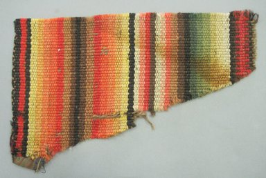 <em>Rainbow Pattern Stair Carpet</em>, ca. 1856. Wool, 8 x 13 in. (20.3 x 33 cm). Brooklyn Museum, Gift of Alice Baldwin Beer, 42.236. Creative Commons-BY (Photo: Brooklyn Museum, CUR.42.236.jpg)