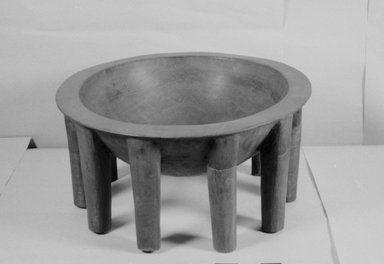 Samoan. <em>Kava Bowl (Tanoa Fai'ava)</em>, 20th century. Wood, 25 13/1 x 12 in. (65.5 x 30.5 cm). Brooklyn Museum, Gift of D. Irving Mead, 42.302.20. Creative Commons-BY (Photo: Brooklyn Museum, CUR.42.302.20_bw.jpg)