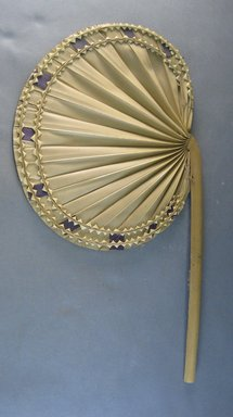 <em>Palm Leaf Fan</em>. Brooklyn Museum, Gift of D. Irving Mead, 42.302.43. Creative Commons-BY (Photo: Brooklyn Museum, CUR.42.302.43.jpg)