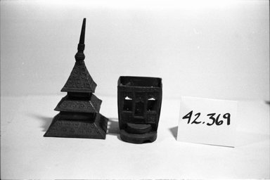 <em>Model of a Temple</em>. Brass Brooklyn Museum, Gift of Mrs. Andre Picard, 42.369. Creative Commons-BY (Photo: Brooklyn Museum, CUR.42.369_bw.jpg)