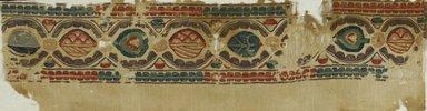 Coptic. <em>Band Fragment with Botanical Decoration</em>, 5th century C.E. Flax, wool, 8 1/4 x 44 1/2 in. (21 x 113 cm). Brooklyn Museum, Gift of Pratt Institute, 42.438.5. Creative Commons-BY (Photo: Brooklyn Museum (in collaboration with Index of Christian Art, Princeton University), CUR.42.438.5_ICA.jpg)