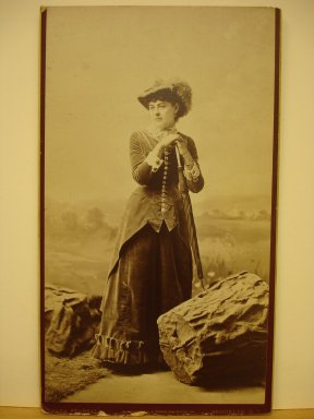 Alva Pearsall (American, 1839-1893). <em>[Mrs. Grant, formerly Helen Wolcott]</em>, ca. 1879. Sepia toned, sheet: 11 7/8 x 6 3/4 in. (30.2 x 17.1 cm). Brooklyn Museum, Gift of Marion Grant, 43.1.15 (Photo: Brooklyn Museum, CUR.43.1.15.jpg)