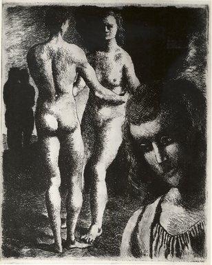 Federico Castellon (American, born Spain, 1914-1971). <em>Utopia (Eden)</em>. Etching, 5 x 4 in. (12.7 x 10.2 cm). Brooklyn Museum, By exchange, 43.162.3. © artist or artist's estate (Photo: Brooklyn Museum, CUR.43.162.3.jpg)