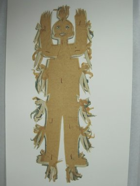 Otomi. <em>Cutout Figurine</em>, 20th century. Paper, cotton(?) thread, 4 7/8 x 13 in. (12.4 x 33 cm). Brooklyn Museum, Gift of Bodil Christensen, 43.194. Creative Commons-BY (Photo: Brooklyn Museum, CUR.43.194_view1.jpg)