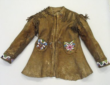 Cree. <em>Jacket</em>, early 20th century. Hide, beadwork, eagle claws Brooklyn Museum, Anonymous gift in memory of Dr. Harlow Brooks, 43.201.108. Creative Commons-BY (Photo: Brooklyn Museum, CUR.43.201.108_view1.jpg)