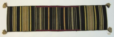 Mapuche. <em>Saddle Bag</em>, 19th-20th century. Cotton and wool, 13 1/4 x 53 3/8 in. (33.7 x 135.5 cm). Brooklyn Museum, Anonymous gift in memory of Dr. Harlow Brooks, 43.201.185. Creative Commons-BY (Photo: Brooklyn Museum, CUR.43.201.185_view1.jpg)