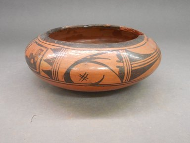 She-we-na (Zuni Pueblo) (Native American). <em>Jar</em>. Clay, slip, 2 3/4 x 7 1/2 in (7 x 19 cm). Brooklyn Museum, Anonymous gift in memory of Dr. Harlow Brooks, 43.201.204. Creative Commons-BY (Photo: Brooklyn Museum, CUR.43.201.204.jpg)