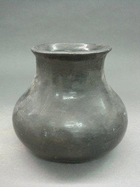 Kah'p'oo Owinge (Santa Clara Pueblo). <em>Jar</em>. Clay, slip, 6 5/16 x 7 1/2 in.  (16 x 19 cm). Brooklyn Museum, Anonymous gift in memory of Dr. Harlow Brooks, 43.201.206. Creative Commons-BY (Photo: Brooklyn Museum, CUR.43.201.206.jpg)