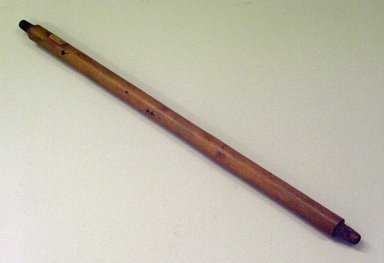Possibly Blackfoot. <em>Tubular Stem for Pipe</em>, 19th century. Wood, 17 5/16 x 9/16 in. (44 x 1.4 cm). Brooklyn Museum, Anonymous gift in memory of Dr. Harlow Brooks, 43.201.241. Creative Commons-BY (Photo: Brooklyn Museum, CUR.43.201.241.jpg)
