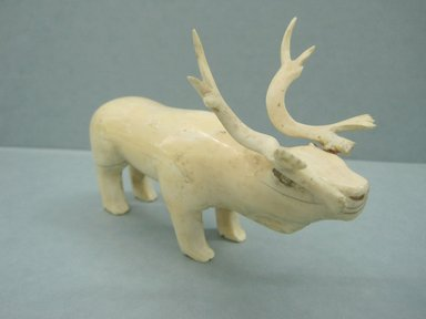 Siberian Yupik. <em>Carving of a Reindeer</em>, nineteenth century. Ivory, 6 x 4 x 2 3/4 in. or (15.5 x 9.5 cm). Brooklyn Museum, Anonymous gift in memory of Dr. Harlow Brooks, 43.201.260. Creative Commons-BY (Photo: Brooklyn Museum, CUR.43.201.260.jpg)