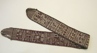 Aymara. <em>Belt</em>, ca. 1943. Wool, 5 × 64 3/4 in. (12.7 × 164.5 cm). Brooklyn Museum, Anonymous gift in memory of Dr. Harlow Brooks, 43.201.29. Creative Commons-BY (Photo: Brooklyn Museum, CUR.43.201.29.jpg)