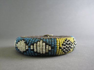 Zulu. <em>Bracelet</em>, early 20th century. Glass beads, cloth, 3 1/2 in. (8.9 cm). Brooklyn Museum, Anonymous gift in memory of Dr. Harlow Brooks, 43.201.41. Creative Commons-BY (Photo: Brooklyn Museum, CUR.43.201.41_side_view2.jpg)