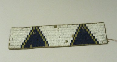 Sioux. <em>Beaded Band</em>, 1900-1940. Beads, hide, 12 5/8 x 3 1/8 in. (32.1 x 7.9 cm). Brooklyn Museum, Anonymous gift in memory of Dr. Harlow Brooks, 43.201.48. Creative Commons-BY (Photo: Brooklyn Museum, CUR.43.201.48.jpg)
