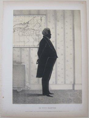 Edmond Burke Kellogg (American, 1809-1872). <em>Portrait Gallery of Distinguished American Citizens: De Witt Clinton</em>, 1844. Lithograph, Sheet: 16 3/4 x 12 3/8 in. (42.5 x 31.5 cm). Brooklyn Museum, Dick S. Ramsay Fund, 43.83.9 (Photo: Brooklyn Museum, CUR.43.83.9.jpg)