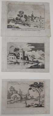 Abner Reed (American, 1771-1866). <em>Connecticut Views.  Plates 1, 2, 3</em>, 1809. Etching and aquatint on wove paper, Plate 1: 2 3/8 x 3 9/16 in. (6 x 9 cm). Brooklyn Museum, By exchange, 44.11 (Photo: Brooklyn Museum, CUR.44.11.jpg)
