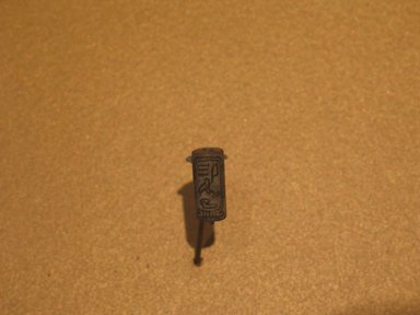 <em>Cylinder Seal of Princess Itakayt, Wife of Amunemhat II</em>, ca. 1876-1842 B.C.E. Steatite, glaze, 11/16 x 5/16 in. (1.8 x 0.8 cm). Brooklyn Museum, Charles Edwin Wilbour Fund, 44.123.74. Creative Commons-BY (Photo: Brooklyn Museum, CUR.44.123.74_erg2.jpg)