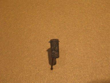<em>Cylinder Seal of Princess Itakayt, Wife of Amunemhat II</em>, ca. 1876-1842 B.C.E. Steatite, glaze, 11/16 x 5/16 in. (1.8 x 0.8 cm). Brooklyn Museum, Charles Edwin Wilbour Fund, 44.123.74. Creative Commons-BY (Photo: Brooklyn Museum, CUR.44.123.74_erg2.jpg)