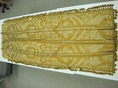 <em>Drapery Panel</em>, ca. 1910. Silk brocade, 118 x 52 in. (299.7 x 132.1 cm). Brooklyn Museum, Gift of Mrs. James H. Post, 44.135.1. Creative Commons-BY (Photo: Brooklyn Museum, CUR.44.135.jpg)