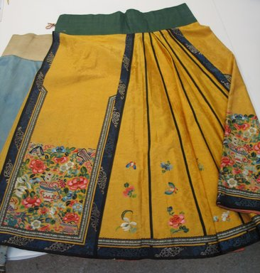 <em>Embroidered Skirt</em>. Silk & Metal Brocade, skirt: 22 13/16 x 38 9/16 in. (58 x 98 cm). Brooklyn Museum, Gift of Jane Van Vleck, 44.185.13. Creative Commons-BY (Photo: Brooklyn Museum, CUR.44.185.13.jpg)