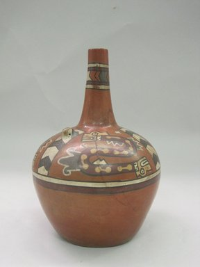 <em>Jar</em>. Ceramic, pigment, 8 3/4 x 6 1/2 x 6 1/2 in. (22.2 x 16.5 x 16.5 cm). Brooklyn Museum, Frank L. Babbott Fund, 44.46. Creative Commons-BY (Photo: Brooklyn Museum, CUR.44.46.jpg)