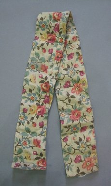 <em>Umbrella Cover</em>, 19th century. Linen cretonne, 3 1/4 x 35 1/2 in. (8.3 x 90.2 cm). Brooklyn Museum, Gift of Randolph H. Nexsen, 44.50.24b (Photo: Brooklyn Museum, CUR.44.50.24b.jpg)
