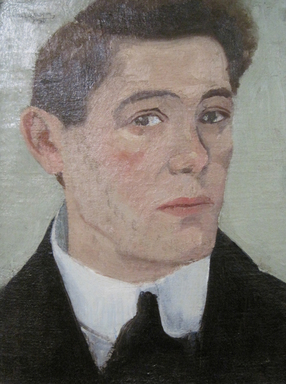 Abraham Walkowitz (American, born Russia, 1878-1965). <em>Self-Portrait 1908</em>, 1908. Oil on canvas, 21 1/4 x 18 1/2 in. (54 x 47 cm). Brooklyn Museum, Gift of the artist, 44.69 (Photo: Brooklyn Museum, CUR.44.69.jpg)