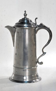 Thomas Danforth Boardman (American, 1784-1873). <em>Flagon</em>, 1810-1830. Pewter, 12 3/8 x 8 1/2 x 6 in. (31.4 x 21.6 x 15.2 cm). Brooklyn Museum, Designated Purchase Fund, 45.10.119. Creative Commons-BY (Photo: Brooklyn Museum, CUR.45.10.119.jpg)