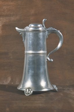 Johann Christopher Heyne (1757-1781). <em>Flagon</em>, 1742-1780. Pewter, 11 1/4 in. (28.6 cm). Brooklyn Museum, Designated Purchase Fund, 45.10.185. Creative Commons-BY (Photo: Brooklyn Museum, CUR.45.10.185.jpg)
