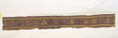 Chancay. <em>Textile Fragment</em>, circa 1100-1400. Camelid fiber, cotton, 5 7/8 × 49 1/4 in. (14.9 × 125.1 cm). Brooklyn Museum, Gift of Leo E. Fleischman, 45.175.2.1. Creative Commons-BY (Photo: Brooklyn Museum, CUR.45.175.2.1.jpg)