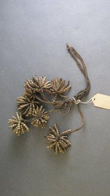 <em>Ornament</em>. Fiber, seeds, b: 4 5/16 × 5 1/2 in. (11 × 14 cm). Brooklyn Museum, Gift of Reba Forbes Morse, 46.120.8a-b. Creative Commons-BY (Photo: Brooklyn Museum, CUR.46.120.8.jpg)