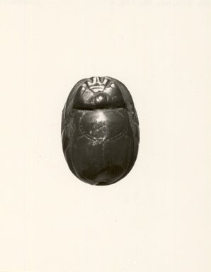 Etruscan. <em>Scarab Form Magic Gem</em>, 5th century B.C.E. or later. Jasper (?), 3/8 in. (0.9 cm). Brooklyn Museum, Bequest of Mary T. Cockcroft, 46.156.4. Creative Commons-BY (Photo: Brooklyn Museum, CUR.46.156.4_negL_499_19_bw.jpg)